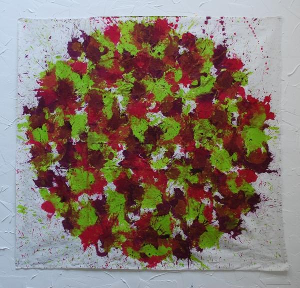 acrylique sur tissu, 105 x 110 cm
