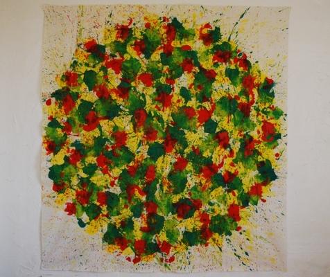 acrylique sur tissu, 210 x 195 cm