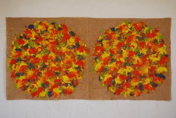 acrylique sur tissu, 105 x 210 cm