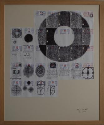 Ephéméride, juin 2005, stylo bille sur papier, 87 x 72 cm. Durant l