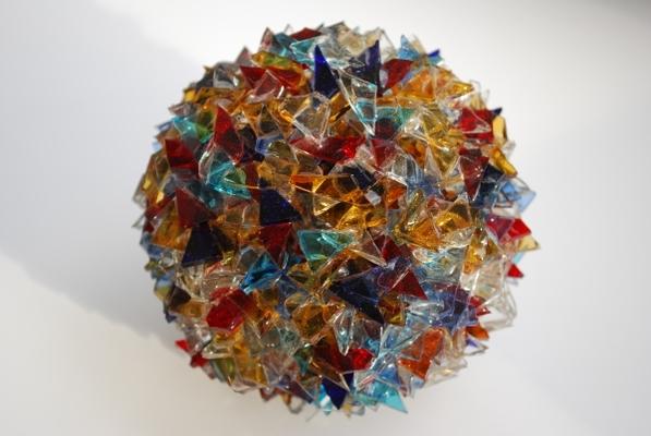 Sphère de juillet, 2004, verre, diam. 12 cm