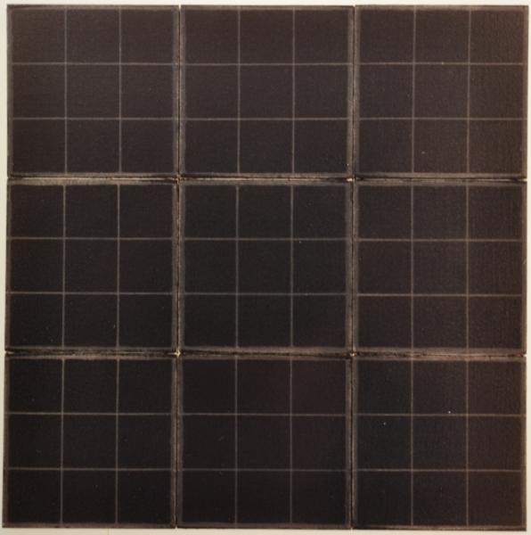 Fractale 3, 1990, acrylique sur toile marouflée sur bois, 94,5 x 94,5 cm