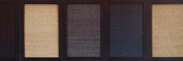 crayon feutre sur papier, 1989-1995, éléments de 21 x 14 cm. (voir texte 1994)