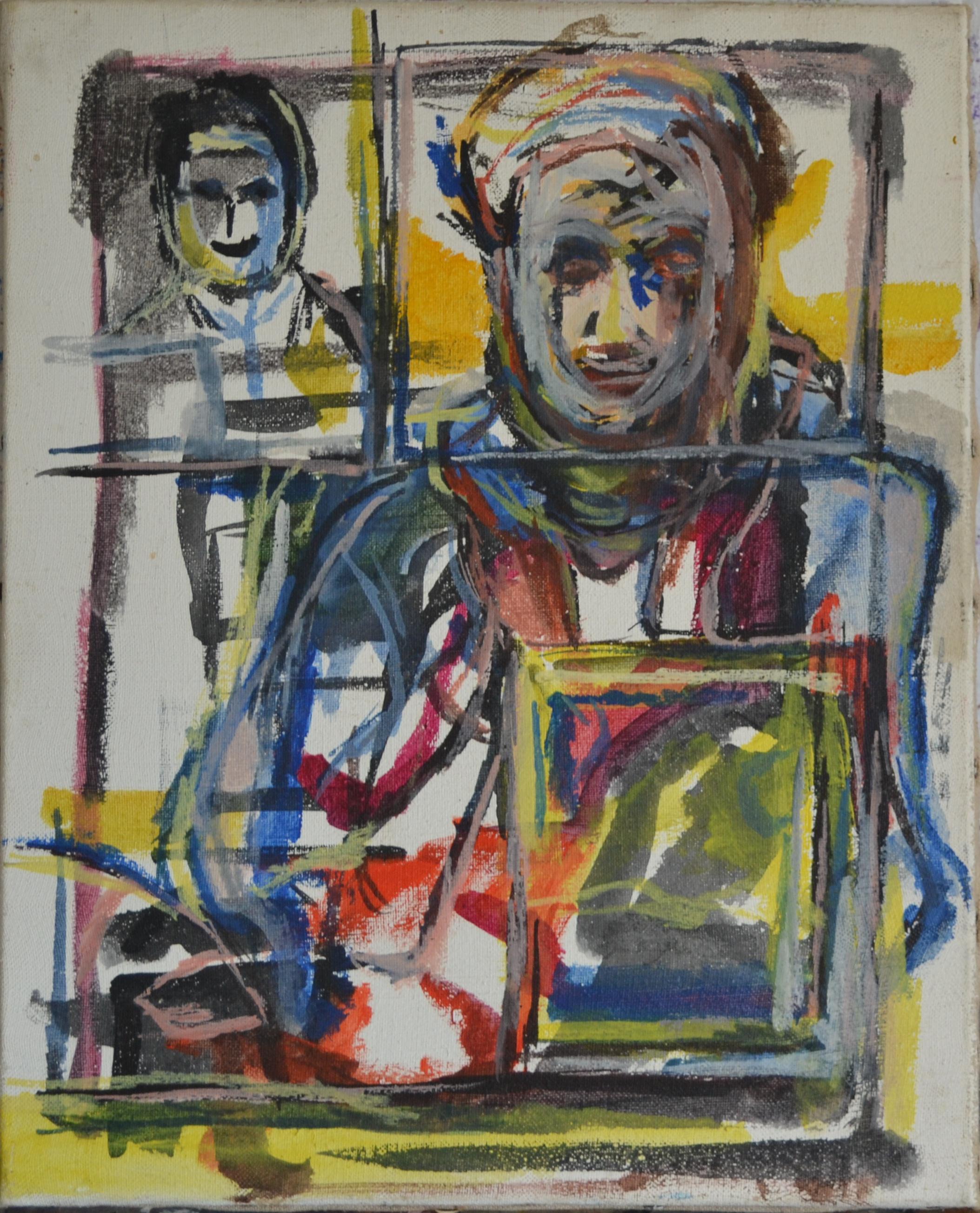 acrylique sur toile/chassis, 41 x 33 cm, 1984