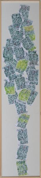 Mappemonde Ephéméride 2015, Arbre de Février, 133 x 29 cm. Afin de renforcer l