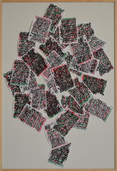 Mappemonde Ephéméride 2015, Arbre de Décembre, 75,5 x 51 cm