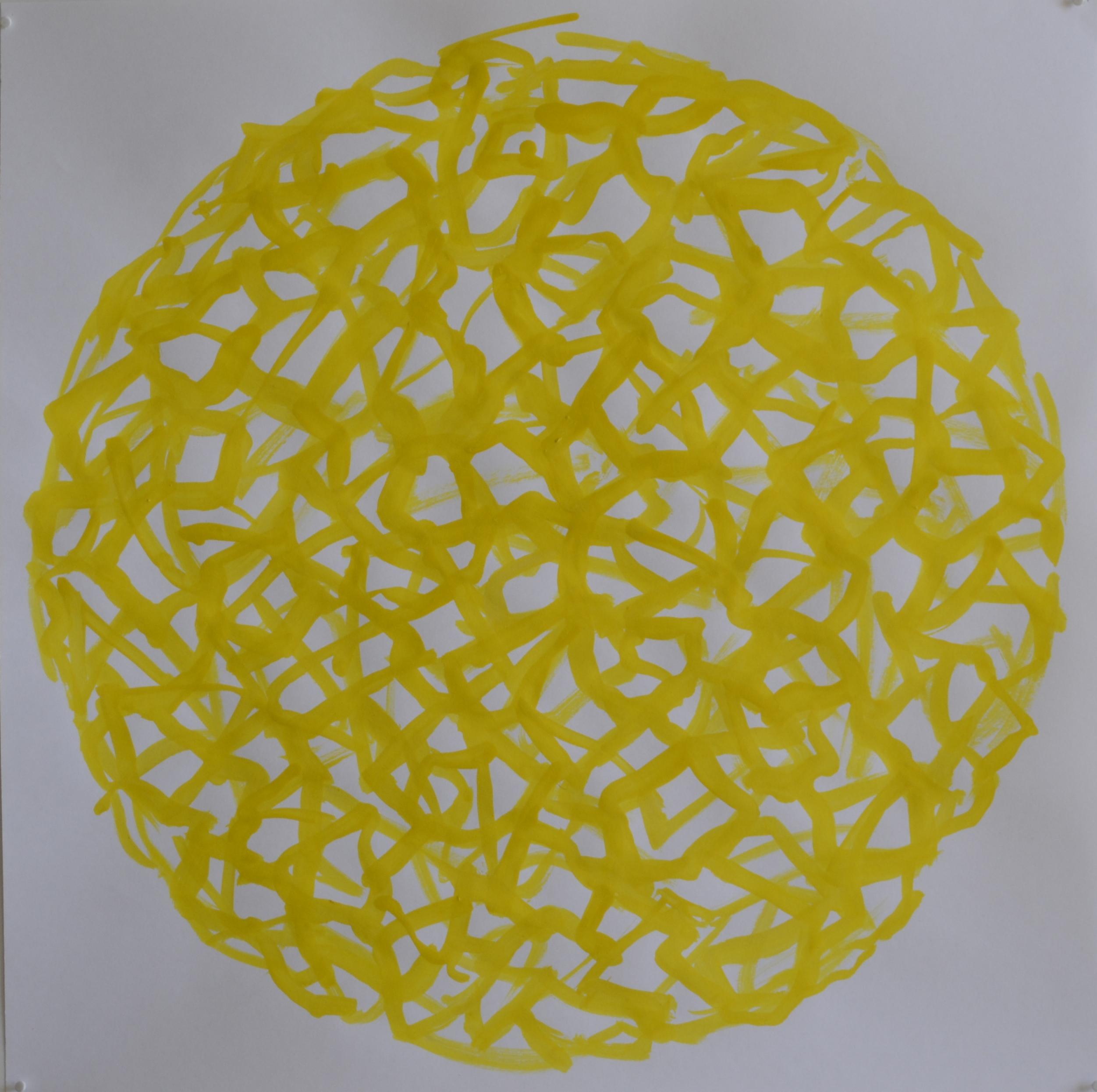 Mappemonde Encre 2, 50 x 50 cm.