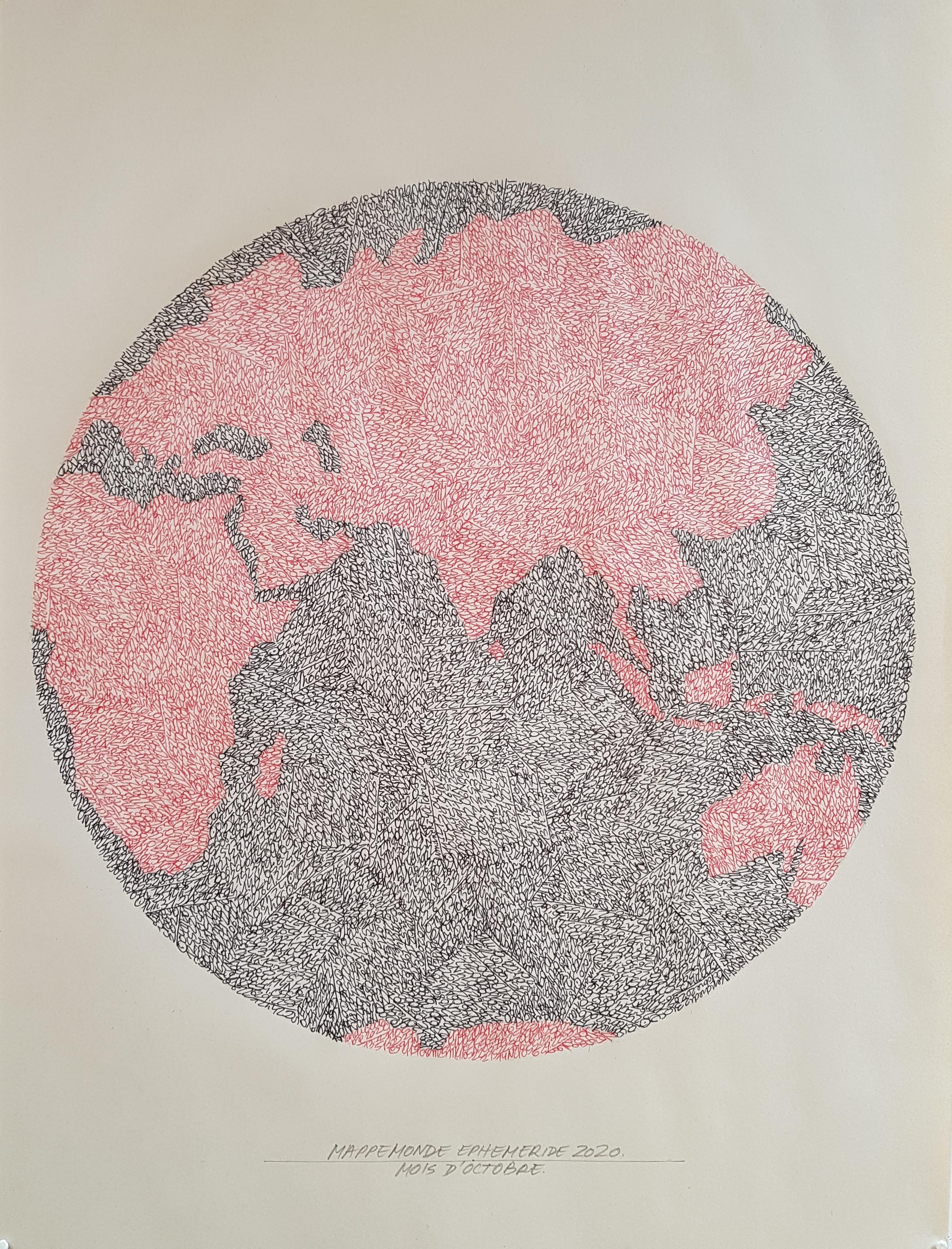 Mappemonde Ephéméride 2020, Covid-19, mois d
